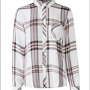 BNWT Rails Flannel Size Lg Cream Red Black Plaid
